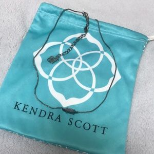 Kendra Scott Bridgete necklace in gray hematite